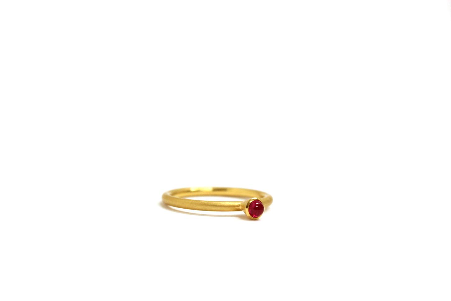 Farbenspiel Ring Gelbgold mit Rubin