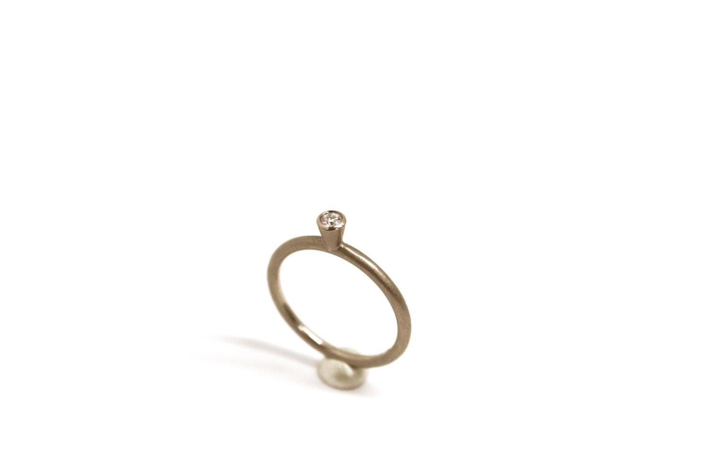 Farbenspiel Ring Weißgold mit Brillant