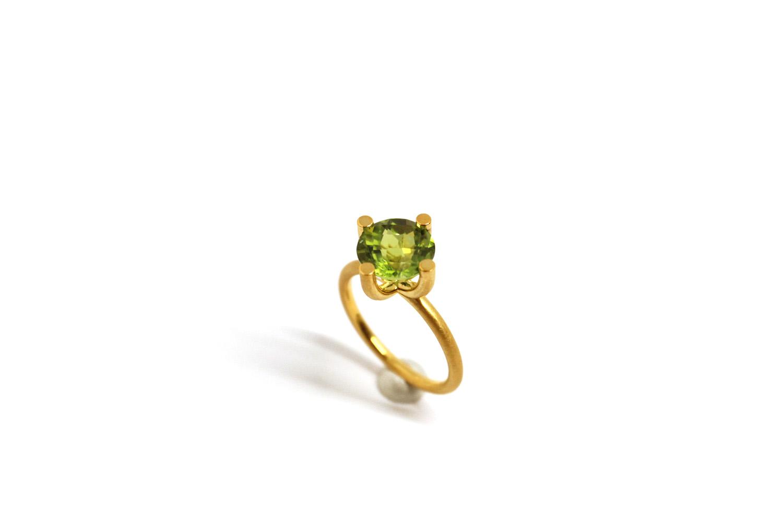 Farbenspiel Ring Gelbgold mit Peridot